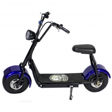 CityCoco MINI 1000W/48V/12aH/Litio Azul Gran-Scooter