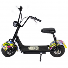 CityCoco MINI 1000W/48V/12aH/Litio Hip-Hop Gran-Scooter