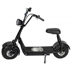 CityCoco MINI 1000W/48V/12aH/Litio Negro Gran-Scooter