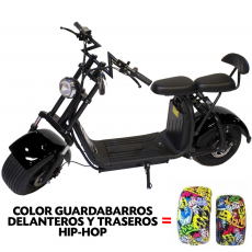 CityCoco (7) 2000W/18.2aH (Doble Batería) Hip-Hop/Negro (Version X)